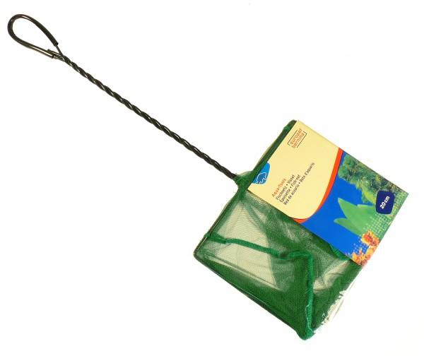 Kescher fein grün ca. 20 x 15,5cm - Stiellänge 35cm
