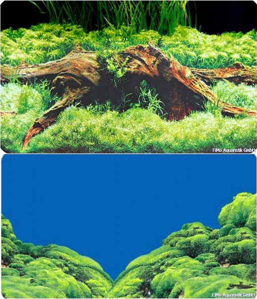2m Rückwand-Folie 60cm hoch Spring / Moss #Nr.18
