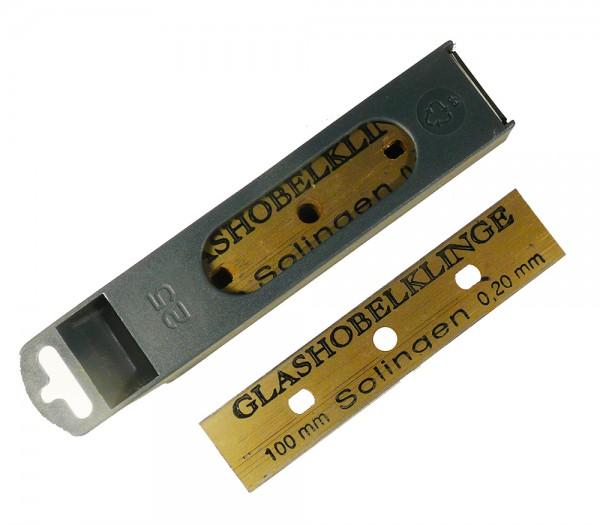 Glashobel-Klingen 25 Stück im Dispenser, Ersatzklingen, 10cm, Solingen