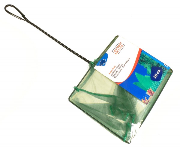 Kescher fein grün ca. 25 x 20cm - Stiellänge 35cm