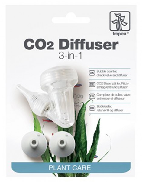 Tropica CO2-Diffuser 3-in-1 inkl. Blasenzähler & Rückschlagventil