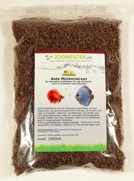Premium Rote Mückenlarven getrock. Nachfüllpack (1000ml / 80g)