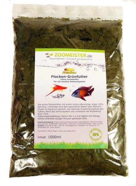 Flocken-Grünfutter für Zierfische (1000ml / 150g)
