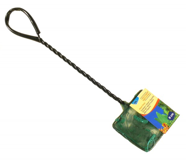 Kescher fein grün ca. 8 x 6,5cm - Stiellänge 24,5cm