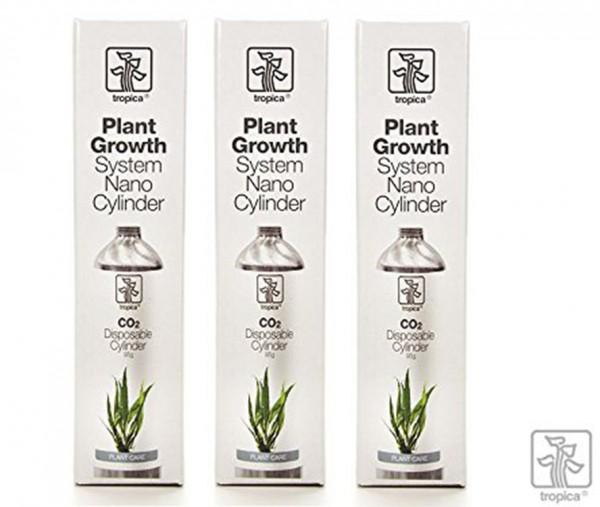Tropica 3x CO2 - Ersatzflasche 95g für Plant Growth Nano System,