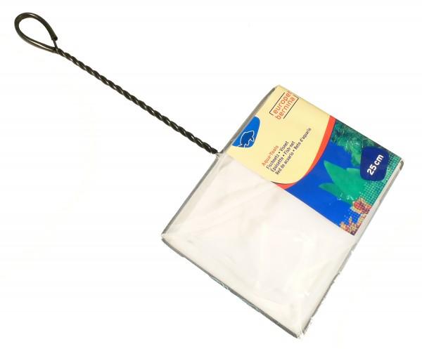 Kescher fein weiss ca. 25 x 20cm - Stiellänge 35cm