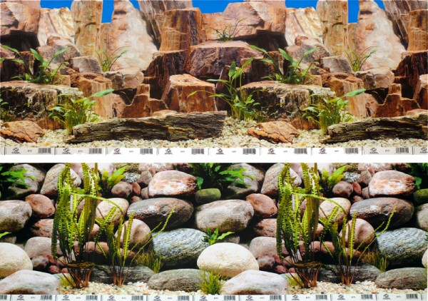 1m Rückwand-Folie 60cm hoch, Steine #Nr. 33
